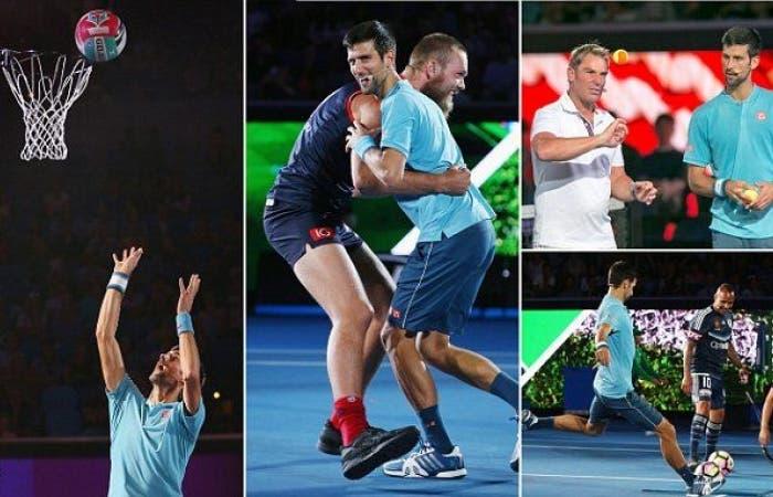 Novak Djokovic, sconfitto da Zverev nel fast 4, si cimenta nel cricket [VIDEO]