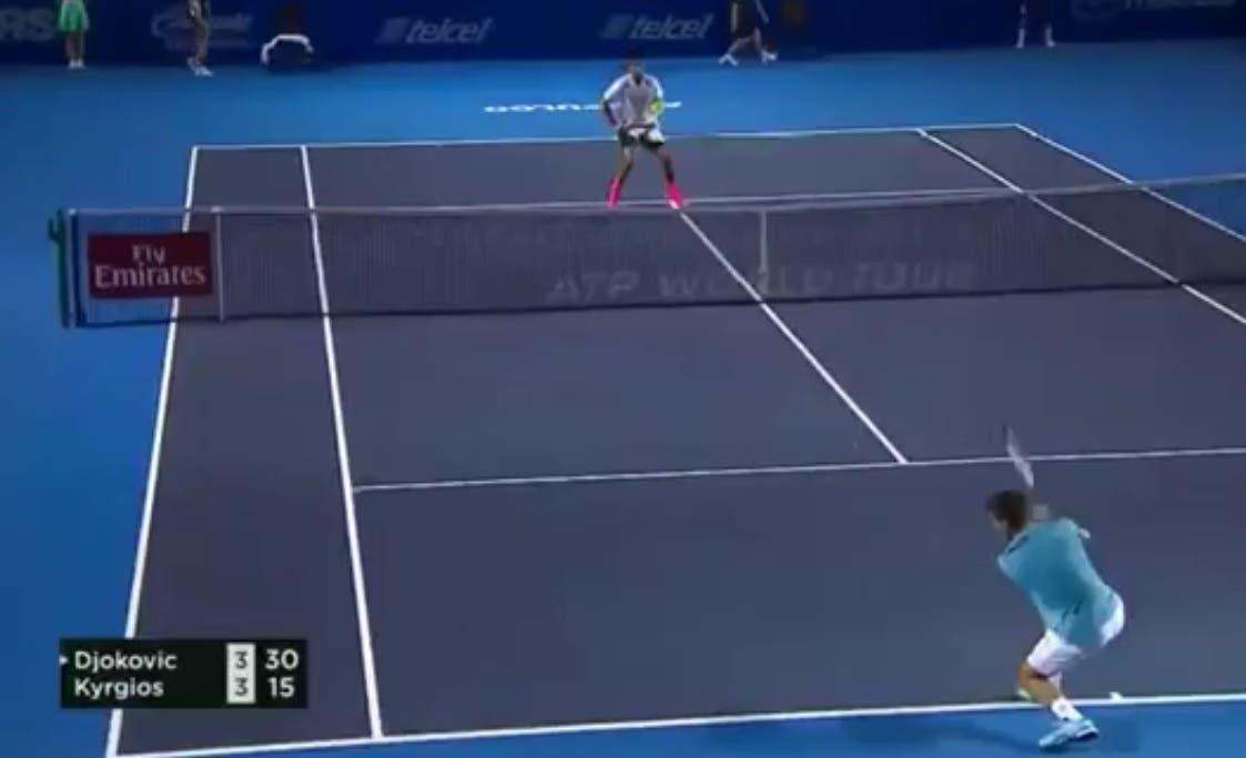 Kyrgios emula Federer, la SABR per battere Djokovic