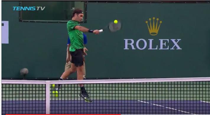 Federer lascia fermo Nadal con due rovesci spaventosi