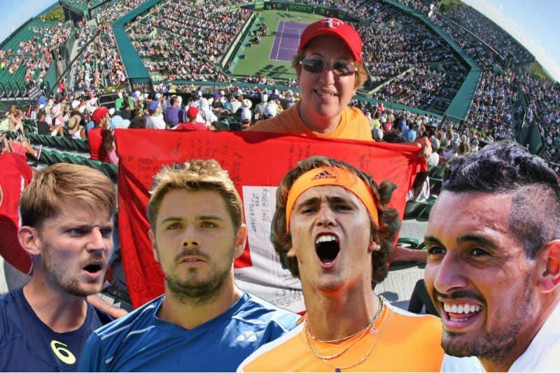 Miami, un'allegra brigata all'assalto di Federer