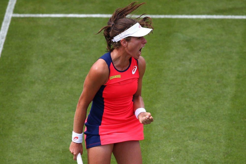 WTA Eastbourne: Konta cade ma elimina Kerber, out anche Halep