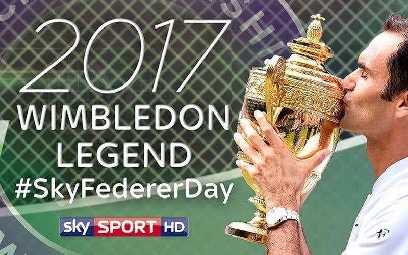 #SKYFedererDay: una giornata dedicata al Re di Wimbledon
