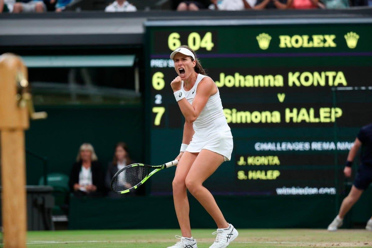 Wimbledon: Konta brucia i sogni di Halep. Pliskova sarà n.1
