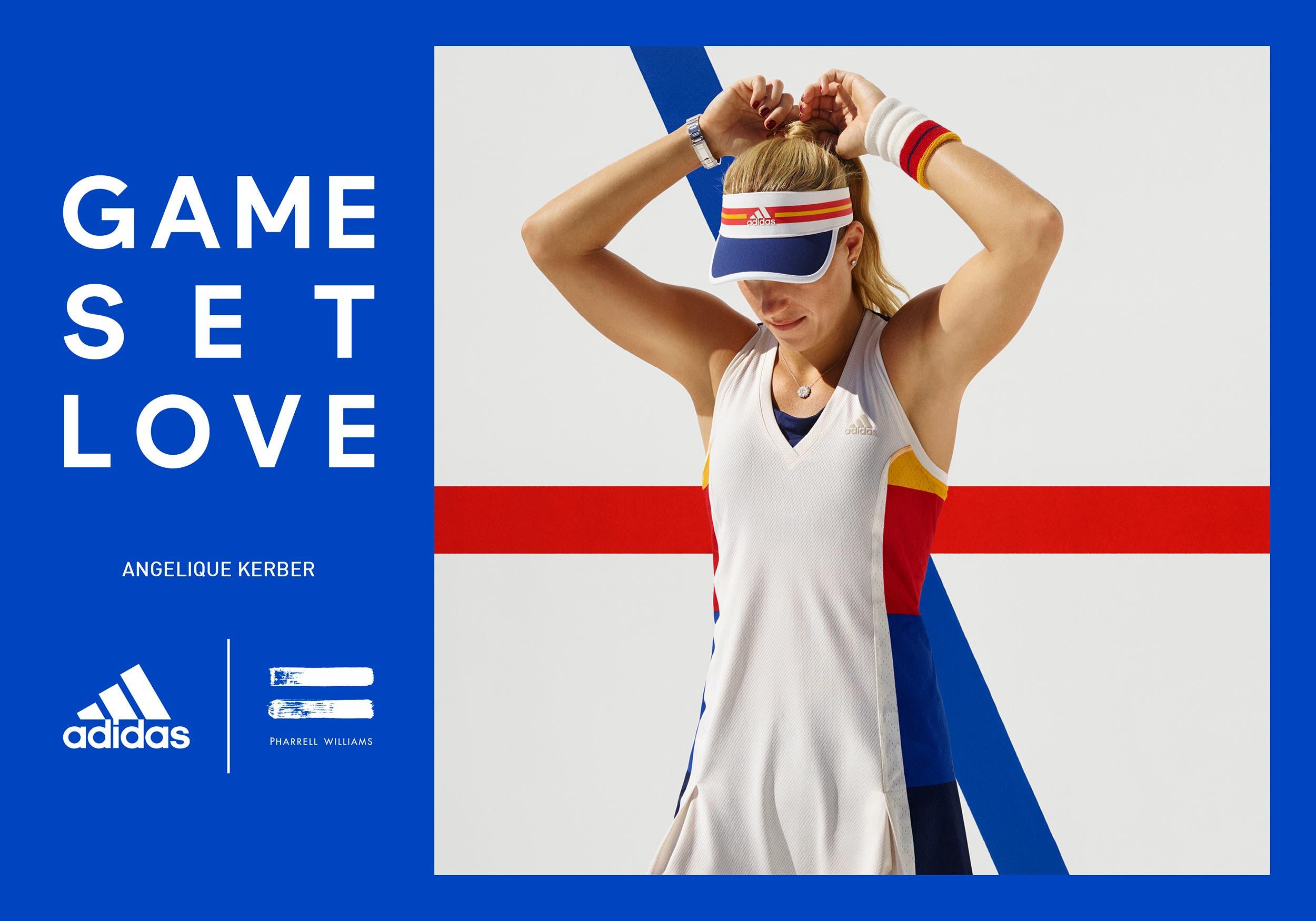 hot sales f16a5 0eccb US Open  Pharrell Williams firma Adidas. Vintage e sociale per il tennis