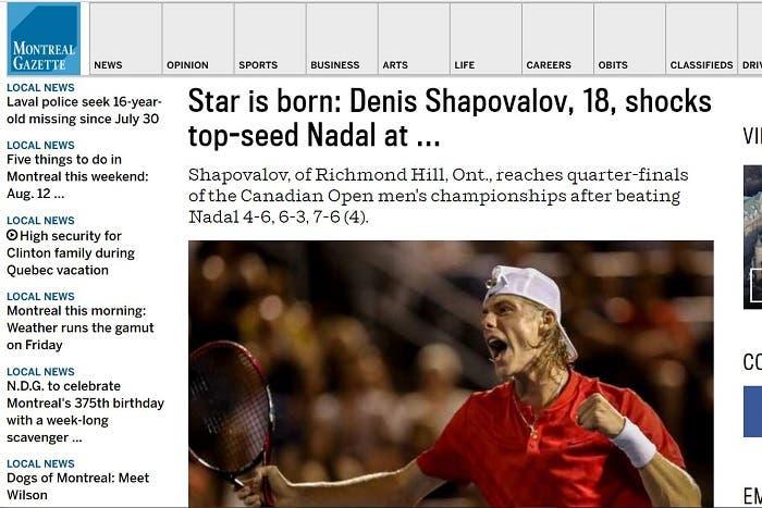 Shapovalov in prima pagina: i siti canadesi dopo il suo trionfo