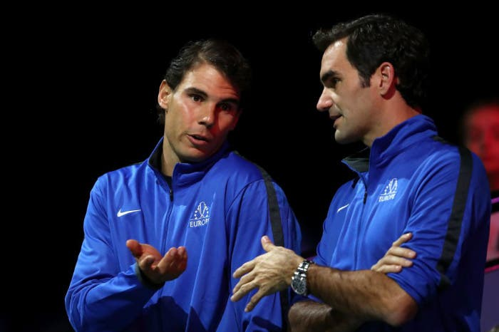"""Federer: """"Vedere Rafa incitarmi è stato inaspettato"""". Nadal lo promuove"""
