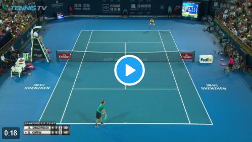 ATP Shenzhen: un passante fulminante regala il titolo a Goffin