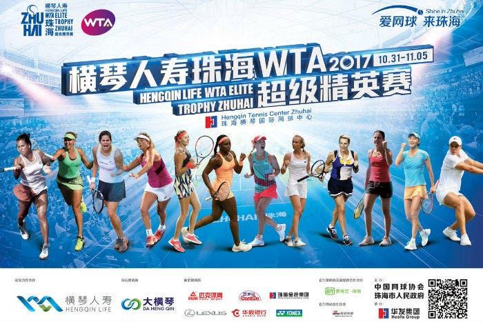 WTA Elite Trophy Zhuhai: ecco la griglia di partenza