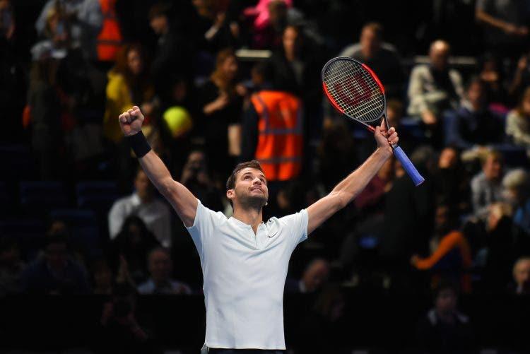ATP Finals: a Dimitrov la non partita con Carreno