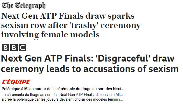 Le reazioni (non proprio buone) alla cerimonia delle NextGen Finals