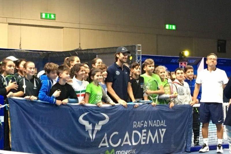 Carlos Moya a Milano per la Rafa Nadal Academy
