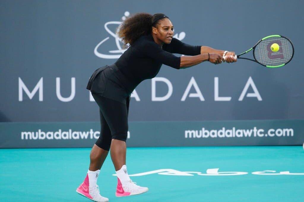 Serena Williams torna in campo, ma gli Australian Open sono in dubbio