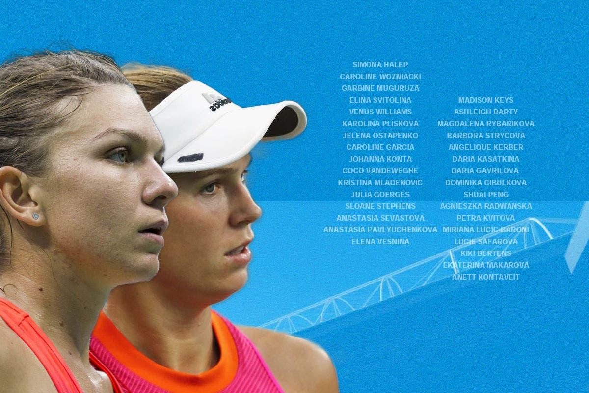 Il tabellone femminile dell'Australian Open