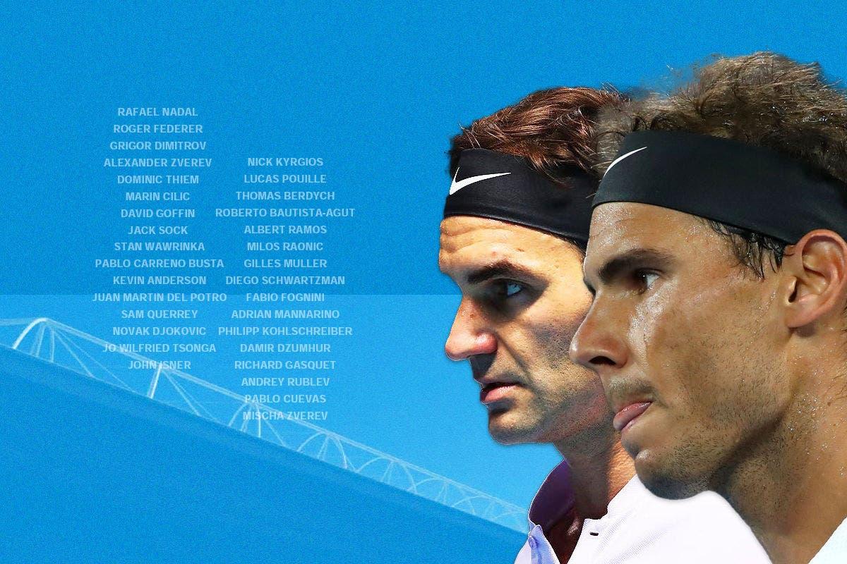 Il tabellone maschile dell'Australian Open
