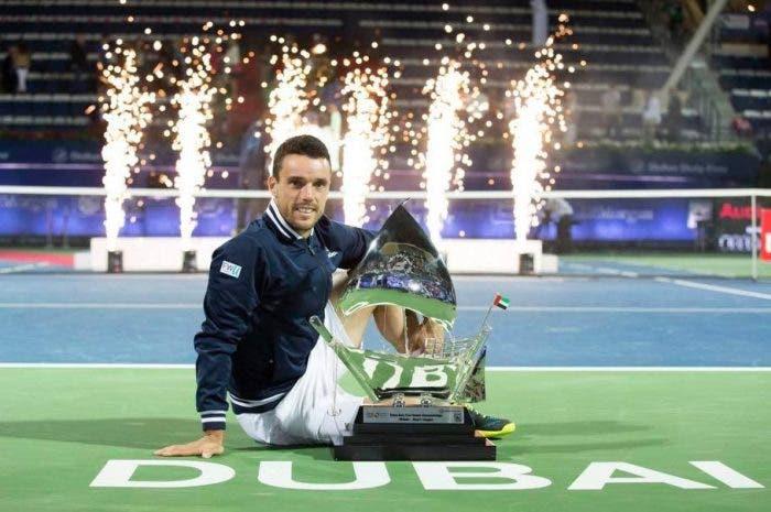 ATP Dubai: il ragionier Bautista non sbaglia, Pouille ancora battuto