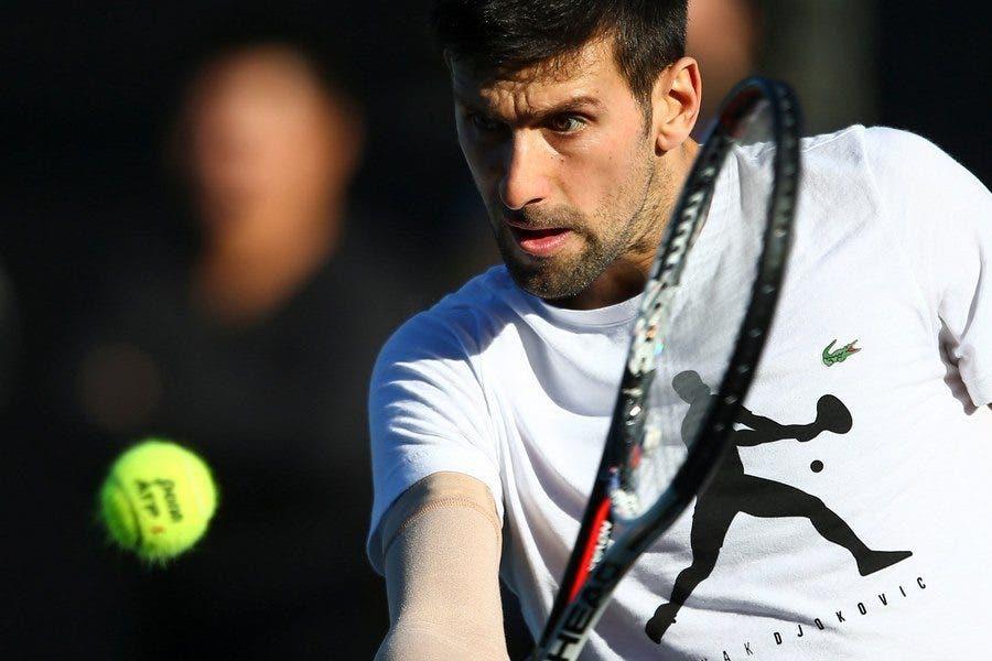 Djokovic e Halep si allenano a casa di Agassi