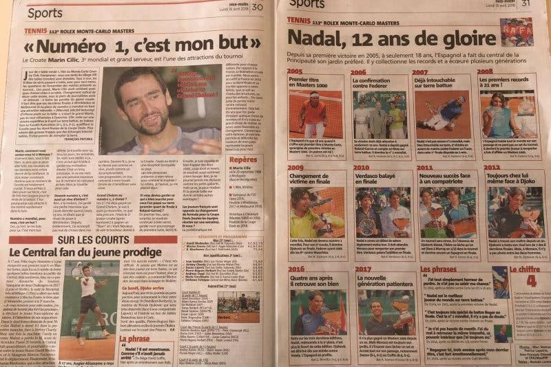 ATP Montecarlo, la stampa celebra i 12 anni di gloria di Nadal al Principato