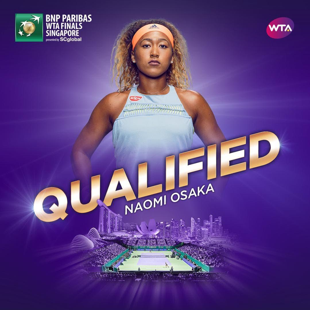 Osaka si qualifica per le Finals: situazione aggiornata